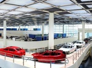Brilliance BMW shenyang factory building cable bridge frame
