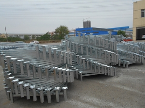 Cold storage tray galvanized