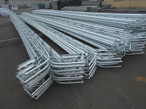 Agricultural canopy supports galvanized